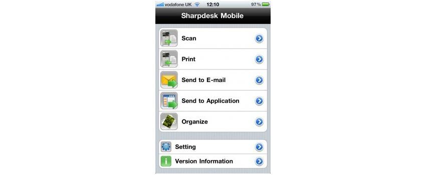 Okostelefonjaink és SHARP multifunkciós készülékeink mostantól könnyedén együttműködnek