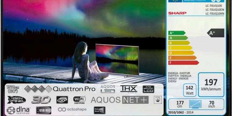 Már hazánkban is kaphatók a Sharp Quattron Pro UQ10 tévék