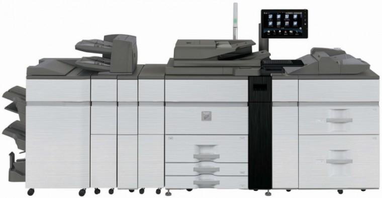 Egy gomb az újítás az új Sharp nyomtatókon